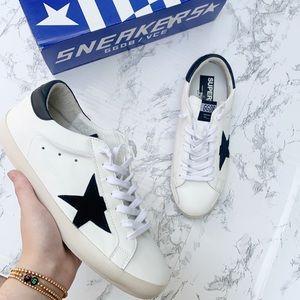 Golden Goose Superstar White Black Leather Sneaker